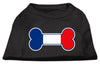 Doggy Stylz Dog-products Dog Shirts Black / Medium Bone Shaped France Flag Screen Print Shirts Black