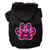 Doggy Stylz Dog-products Pet Apparel Black / Medium Argyle Paw Pink Screen Print Pet Hoodies Size