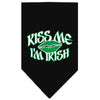 Doggy Stylz Dog-products Dog Bandanas Black / Small Kiss Me I'm Irish Screen Print Bandana