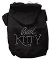 Doggy Stylz Dog-products Dog Hoodies Black / Small Bad Kitty Rhinestud Hoodie
