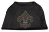 Doggy Stylz Dog-products Dog Shirts Black / SMALL Holiday Fleur De Lis Rhinestone Shirts Black