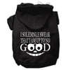 Doggy Stylz Dog-products New Pet Products Black / Small Up To No Good Screen Print Pet Hoodies Size