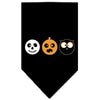 Doggy Stylz Dog-products New! Black / Small The Spook Trio Screen Print Bandana