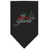 Doggy Stylz Dog-products New! Black / Small Tis The Season To Sparkle Rhinestone Bandana