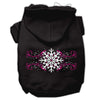 Doggy Stylz Dog-products Pet Apparel Black / Small Pink Snowflake Swirls Screenprint Pet Hoodies Size