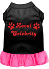 Doggy Stylz Dog-products Apparel Black With Bright Pink / LARGE Local Celebrity Screen Print Dress Black