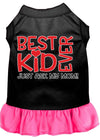 Doggy Stylz Dog-products New Black With Bright Pink / XXL Ask My Mom Screen Print Dog Dress