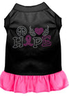 Doggy Stylz Dog-products Apparel Black With Bright Pink / XXXL (20) Peace Love Hope Breast Cancer Rhinestone Pet Dress Black