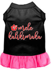 Doggy Stylz Dog-products New Black With Bright Pink / XXXL Mele Kalikimaka Screen Print Dog Dress