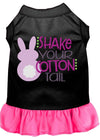 Doggy Stylz Dog-products New Black With Bright Pink / XXXL Shake Your Cotton Tail Screen Print Dog Dress