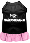 Doggy Stylz Dog-products Apparel Black With Light Pink / XXL High Maintenance Dresses Black With