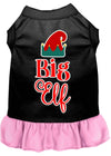 Doggy Stylz Dog-products New Black With Light Pink / XXL Big Elf Screen Print Dog Dress