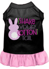 Doggy Stylz Dog-products New Black With Light Pink / XXL Shake Your Cotton Tail Screen Print Dog Dress