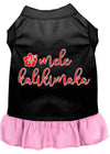 Doggy Stylz Dog-products New Black With Light Pink / XXXL Mele Kalikimaka Screen Print Dog Dress