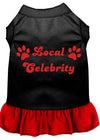 Doggy Stylz Dog-products Apparel Black With Red / EXTRA SMALL Local Celebrity Screen Print Dress Black