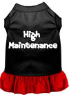 Doggy Stylz Dog-products Apparel Black With Red / XXL High Maintenance Dresses Black With