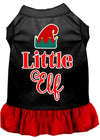 Doggy Stylz Dog-products New Black With Red / XXL Little Elf Screen Print Dog Dress