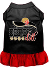 Doggy Stylz Dog-products New Black With Red / XXXL Derby Doll Screen Print Dog Dress