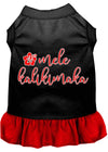 Doggy Stylz Dog-products New Black With Red / XXXL Mele Kalikimaka Screen Print Dog Dress