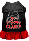 Doggy Stylz Dog-products New Black With Red / XXXL You Serious Clark? Screen Print Dog Dress