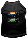 Doggy Stylz Dog-products New Black / XXL Love Is Love Screen Print Dog Shirt