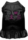 Doggy Stylz Dog-products Apparel Black / XXXL (20) Peace Love Hope Breast Cancer Rhinestone Pet Dress Black