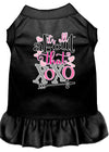 Doggy Stylz Dog-products New Black / XXXL All About The Xoxo Screen Print Dog Dress