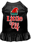 Doggy Stylz Dog-products New Black / XXXL Little Elf Screen Print Dog Dress