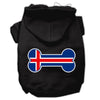 Doggy Stylz Dog-products Pet Apparel Black / XXXL Bone Shaped Iceland Flag Screen Print Pet Hoodies