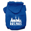 Doggy Stylz Dog-products Pet Apparel Blue / Extra Large Tokyo Skyline Screen Print Pet Hoodies Size