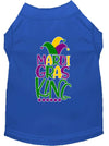 Doggy Stylz Dog-products New Blue / Extra Small Mardi Gras King Screen Print Mardi Gras Dog Shirt