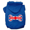 Doggy Stylz Dog-products Pet Apparel Blue / Large Bone Shaped United Kingdom (union Jack) Flag Screen Print Pet Hoodies
