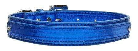 "Doggy Stylz Dog-products Pet Charms Blue / Medium 3/4"" (18mm) Metallic Two-tier Collar"