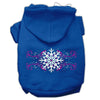 Doggy Stylz Dog-products Pet Apparel Blue / Small Pink Snowflake Swirls Screenprint Pet Hoodies Size