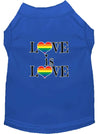 Doggy Stylz Dog-products New Blue / XXL Love Is Love Screen Print Dog Shirt