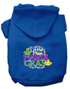 Doggy Stylz Dog-products New Blue / XXL Miss Mardi Gras Screen Print Mardi Gras Dog Hoodie