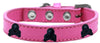 Doggy Stylz Dog-products New! Bright Pink / 12 Skull Widget Dog Collar Size