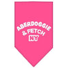Doggy Stylz Dog-products Dog Bandanas Bright Pink / Large Aberdoggie Ny Screen Print Bandana