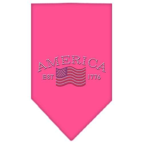 Doggy Stylz Dog-products Dog Bandanas Bright Pink / Large Classic American Rhinestone Bandana