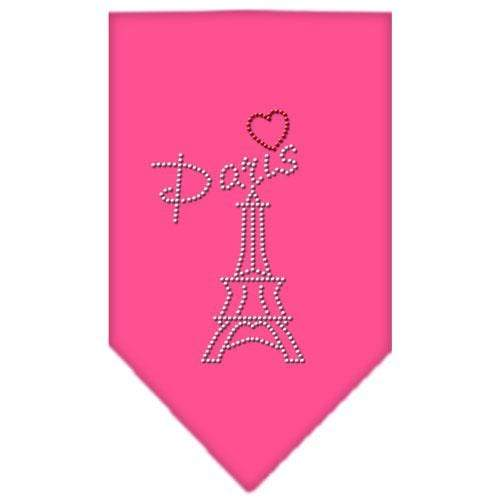 Doggy Stylz Dog-products Dog Bandanas Bright Pink / Large Paris Rhinestone Bandana