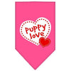 Doggy Stylz Dog-products Dog Bandanas Bright Pink / Large Puppy Love Screen Print Bandana