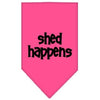 Doggy Stylz Dog-products Dog Bandanas Bright Pink / Large Shed Happens Screen Print Bandana