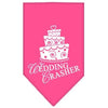 Doggy Stylz Dog-products Dog Bandanas Bright Pink / Large Wedding Crasher Screen Print Bandana
