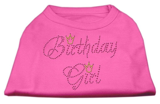 Doggy Stylz Dog-products Dog Shirts Bright Pink / Large Birthday Girl Rhinestone Shirt