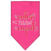 Doggy Stylz Dog-products New Bright Pink / Large Cuter Than Cupid Screen Print Bandana