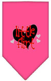 Doggy Stylz Dog-products New Bright Pink / Large Little Flirt Screen Print Bandana