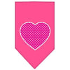 Doggy Stylz Dog-products New Pet Products Bright Pink / Large Pink Swiss Dot Heart Screen Print Bandana