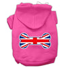 Doggy Stylz Dog-products Pet Apparel Bright Pink / Large Bone Shaped United Kingdom (union Jack) Flag Screen Print Pet Hoodies
