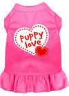 Doggy Stylz Dog-products Apparel Bright Pink / MEDIUM Puppy Love Screen Print Dress Bright Pink