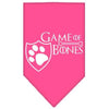 Doggy Stylz Dog-products General Bright Pink / Small Game Of Bones Screen Print Bandana